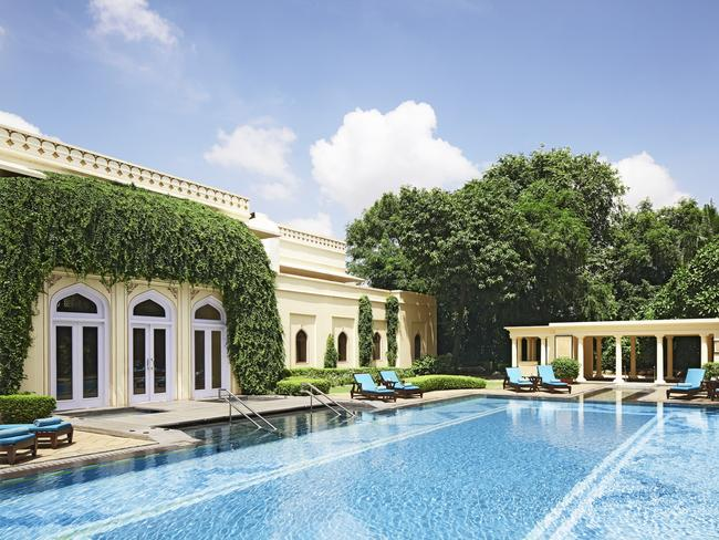The pool at Rambagh Palace. Picture: Taj Hotels Resorts and Palaces.