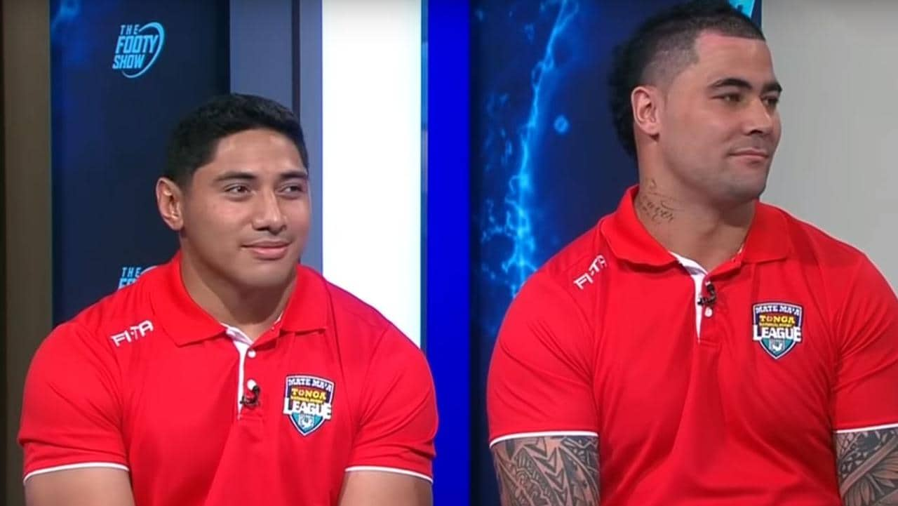 Jason Taumalolo and Andrew Fifita appear on the NRL Footy Show.
