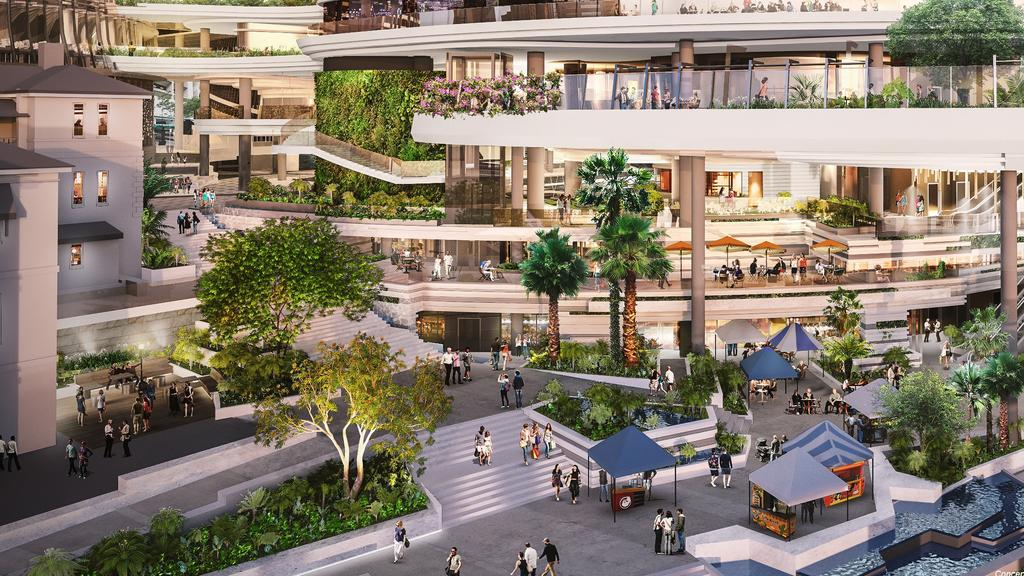 An artist impression of the Queen's Wharf development. Picture: Destination Brisbane Consortium