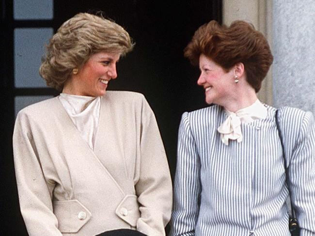 Princess Diana and Lady Sarah sharing a giggle in 1987. Picture: Tim Graham/Getty Images