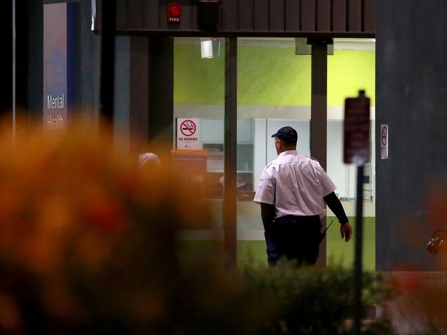 Nepean Hospital in Sydney's west was the scene last week of the latest violent attack, after a man was shot while allegedly threatening staff with knives. Picture: Toby Zerna