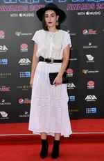 Meg Mac arrives on the red carpet for the 31st Annual ARIA Awards 2017 at The Star on November 28, 2017 in Sydney, Australia. Picture: AAP
