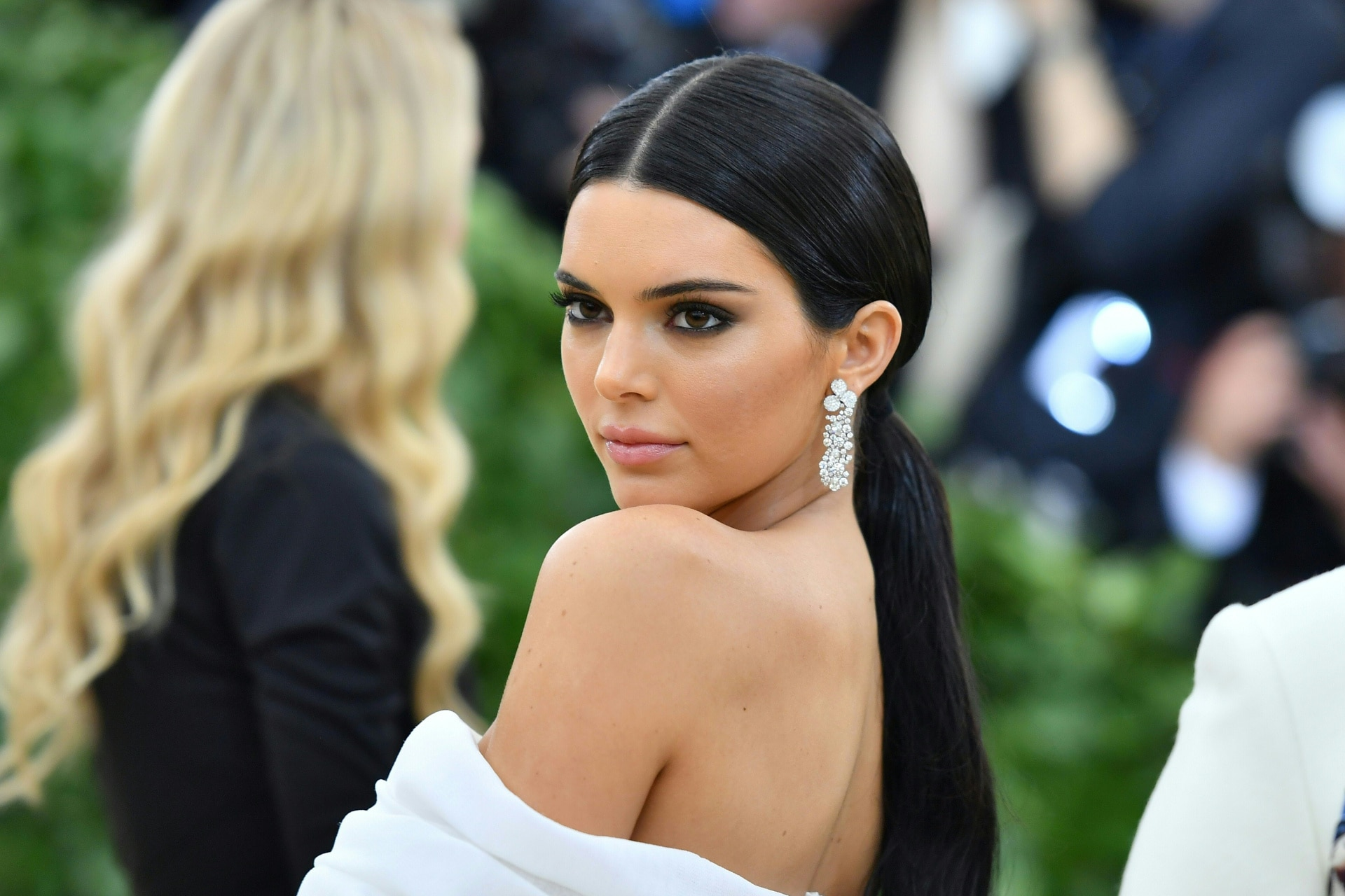 Kendall Jenner shooed away Kris Jenner for trying to fix her Met Gala outfit on the red carpet