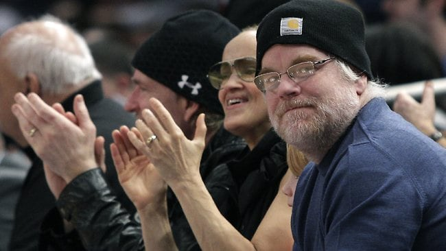 Basketball fan... The actor at a New York Knicks game at Madison Square Garden in 2010. Actor Matthew Modine is second from left. Picture: Kathy Willens/AP