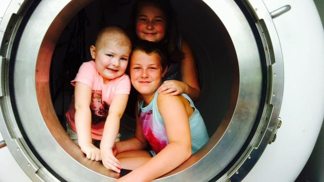 Isla had severe side effects from her treatment for aggressive leukaemia.