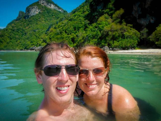 The couple in Thailand.