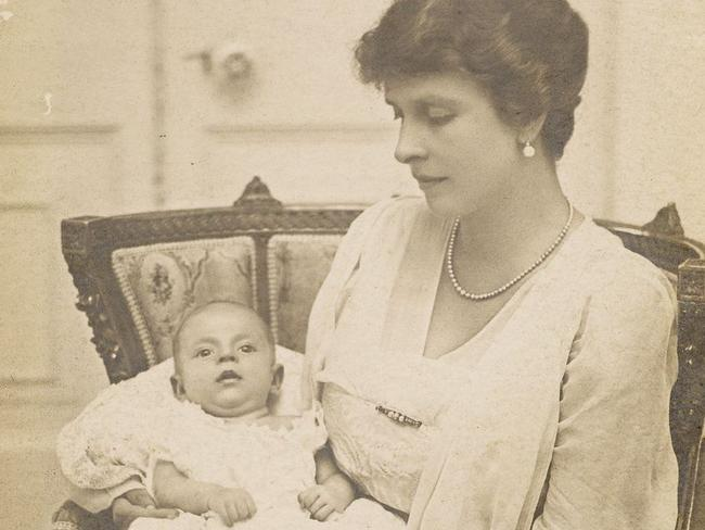 Prince Philip in his mother's arms, Princess Alice of Battenberg. Picture: Royal Collection Trust