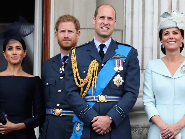 Tension between Meghan Markle and Kate Middleton is rumoured to be the cause of a growing rift between Princes Harry and William. Picture: Getty