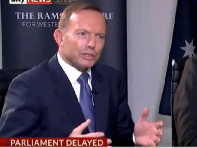 Tony Abbott didn't specify whether he was one of the individuals at fault. Picture: Sky News