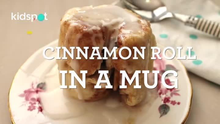 How to make a cinnamon roll in a mug