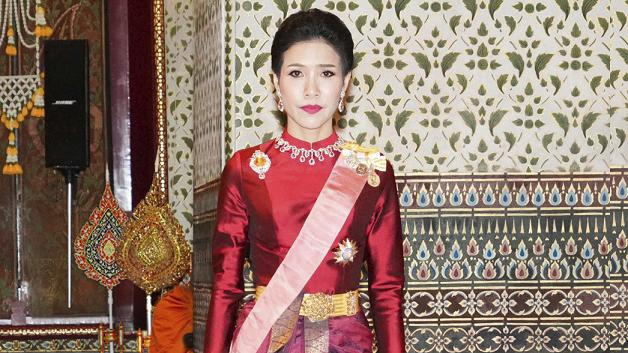 Sineenatra Wongvajirabhakdi was accused of disloyalty to the king. Picture: Thailand Royal Office/AP