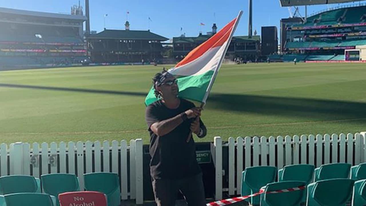 Indian fan Krishna Kumar at the SCG