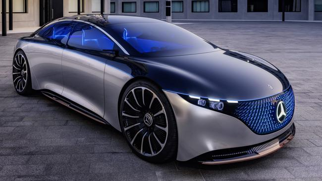 Mercedes-Benz revealed its futuristic EQS concept.