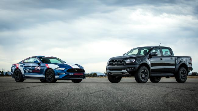 The Raptor and Mustang have been big hits in Australia. Picture: Supplied