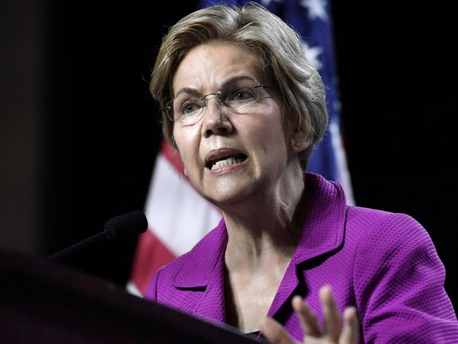 Democratic presidential candidate Elizabeth Warren tweeted that Kavanaugh ashould be impeached. Picture: AP Photo/Jessica Hill