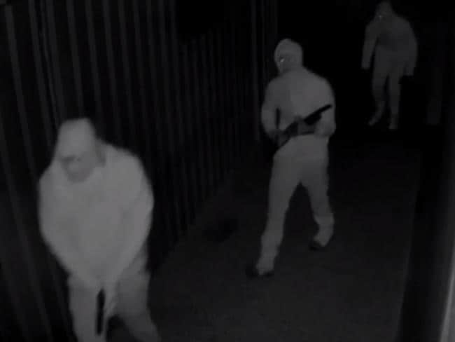 Three men can be seen entering the property. Picture: ACT Police