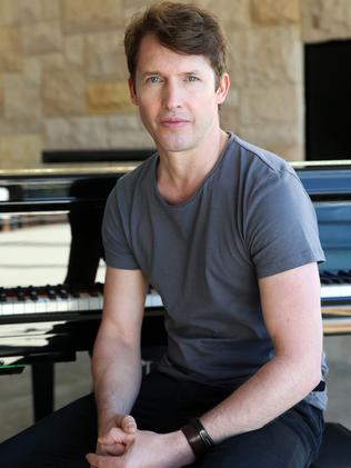 James Blunt sings his opening line twice on You're Beautiful. Picture: Stephen Cooper