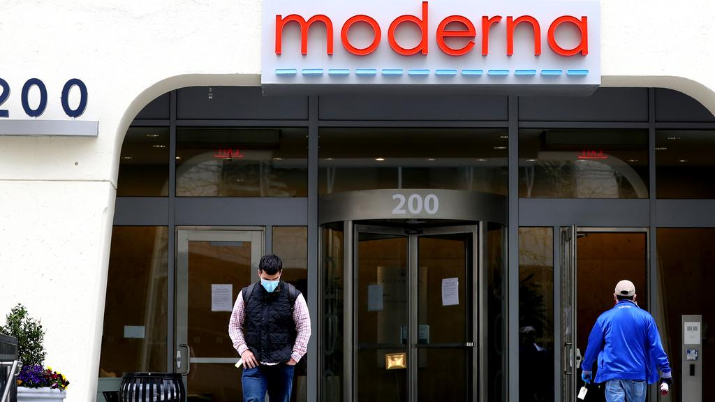 Moderna headquarters in Cambridge, Massachusetts. Picture: Maddie Meyer/Getty Images/AFP
