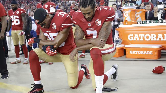 Eric Reid joined Colin Kaepernick as he staged another protest today.