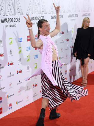Rockin' up to the ARIAs like... Picture: AAP