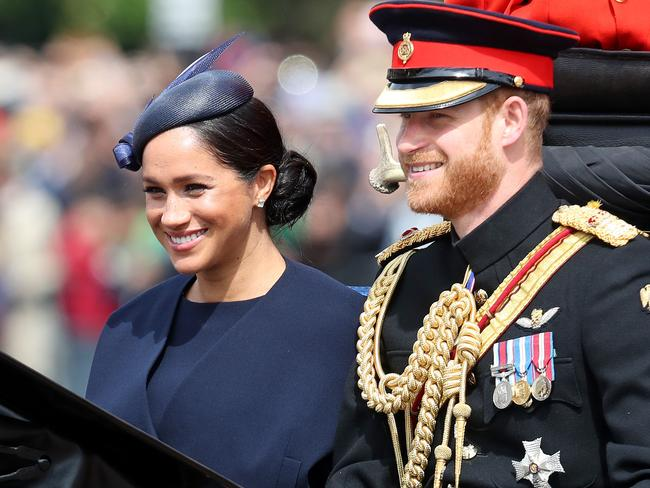 Meghan and Harry recently appeared at Trooping The Colour, the Queen's annual birthday parade. Picture: Getty Images