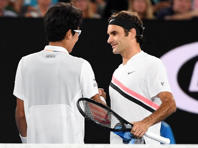 Kind words from Roger Federer go a long way.