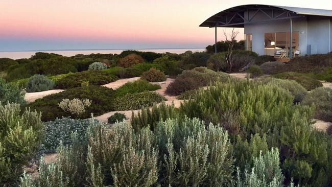 The top five attractions for international visitors are all at risk from climate change. Pictured is Yondah Beach House, Yorke Peninsula.