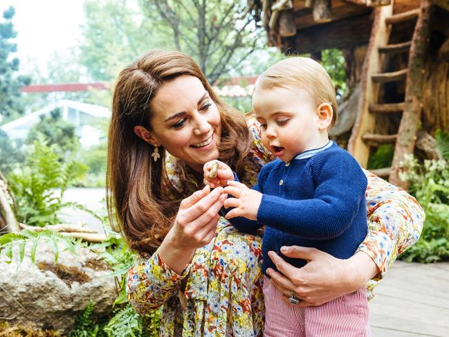 "Prince Louis gave the ""back to nature garden"" two thumbs up. Picture: Matt Porteous / KENSINGTON PALACE / AFP"