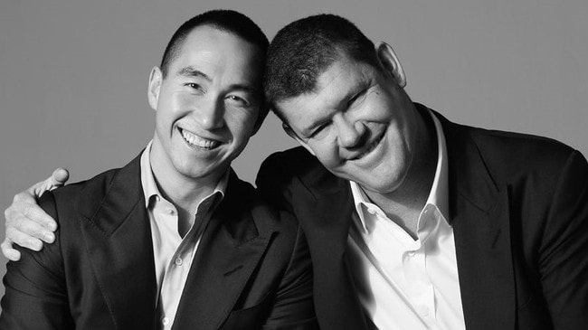 Lawrence Ho and James Packer from Damon Kitney's biography on Packer.