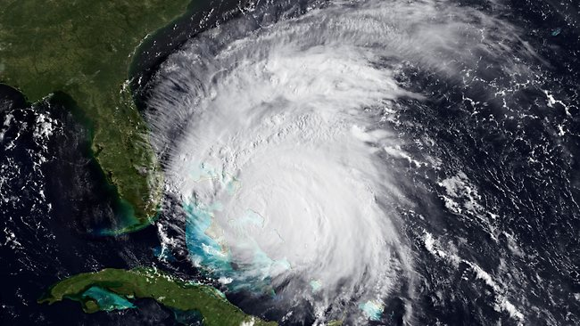 The GOES-east satellite shows Hurricane Irene as it nears the East coast. Picture: AP