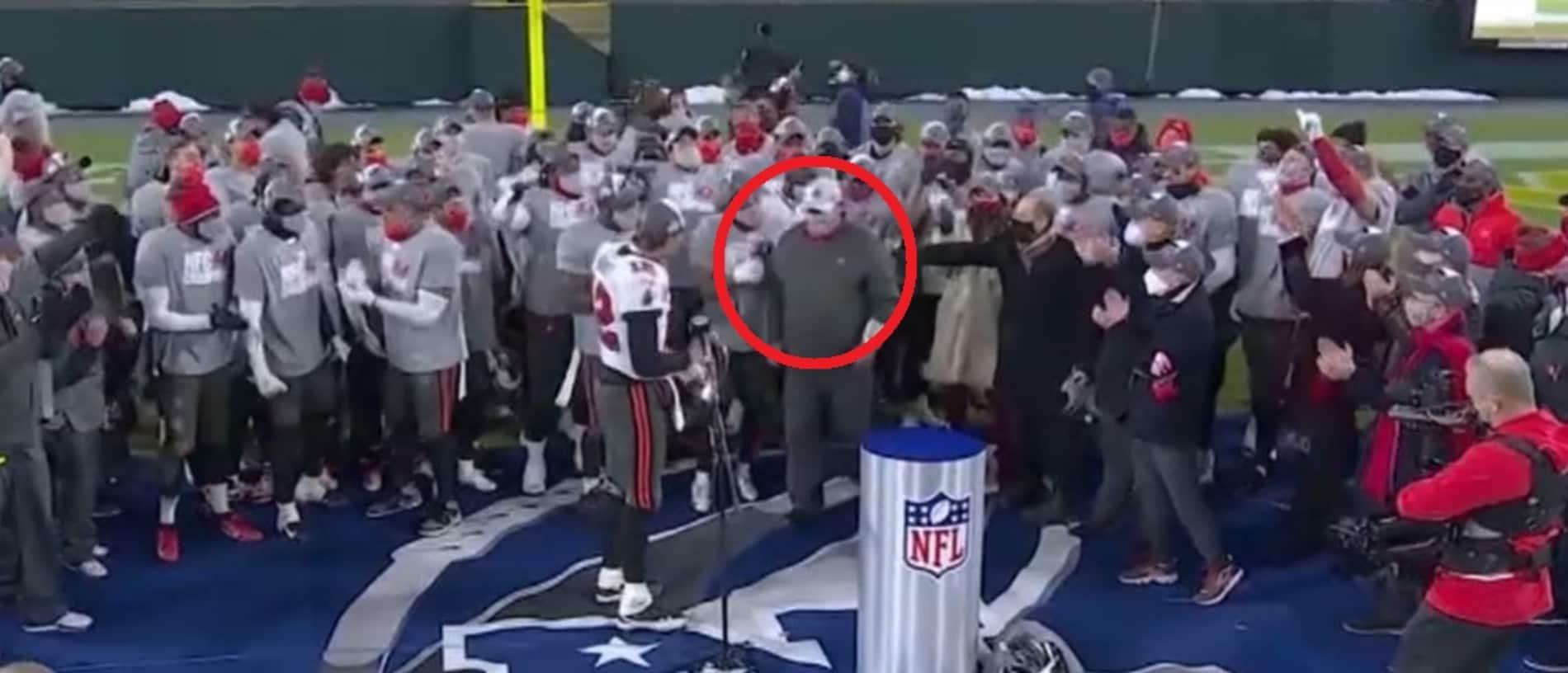 Tom Brady invites someone else to share the spotlight.