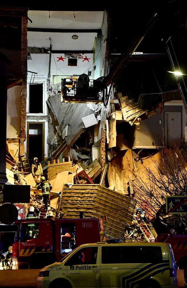 The blast ripped through this building. Picture: AFP