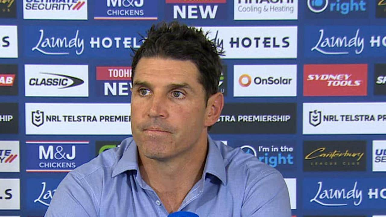 Trent Barrett didn't crack a smile on Friday.
