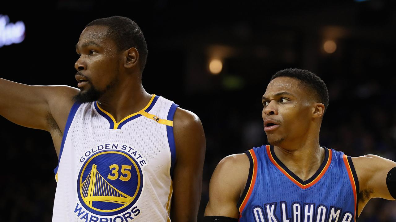 Kevin Durant and Russell Westbrook.