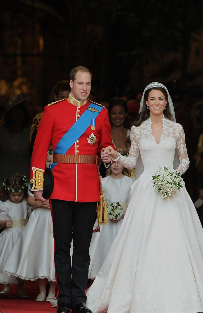 Kate Middleton's dress is one of the most popular of all time. Credit: AFP Photo/Carl De Souza