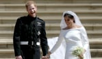 Harry and Meghan have released never-before-seen wedding photos to mark their first anniversary. Source: Getty Images