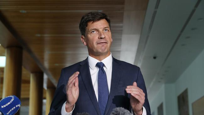 Energy Minister Angus Taylor says the scheme will bring down power prices. Picture: Gary Ramage