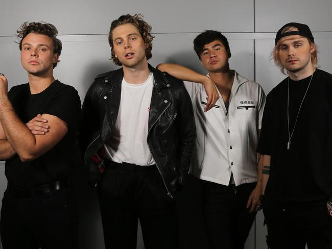5 Seconds of Summer cracked the streaming code this year. Picture AAP/David Clark