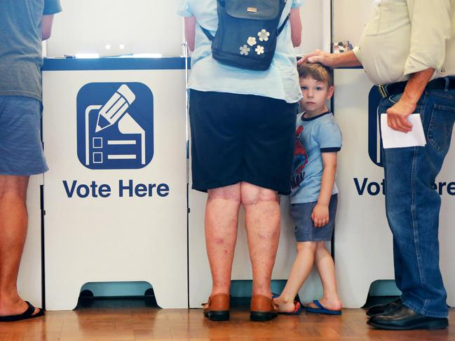 What did you overhear at the polling booth? Picture: AAP/Angelo Velardo