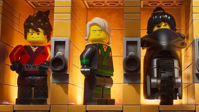 Three of the high-school heroes from The Lego Ninjago Movie.