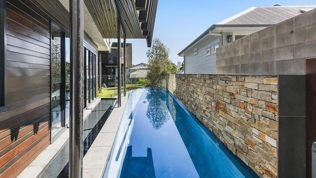 Plenty of room for a swim at 247 Kent St, Teneriffe. Picture: realestate.com.au