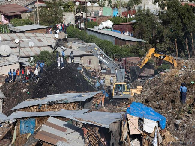 Dozens have been killed in the garbage dump landslide. Picture: AFP/Zacharias Abubeker