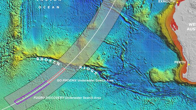 "The ""seventh arc"" in the southern Indian Ocean considered the most likely area where MH370 crashed. Picture: Supplied."