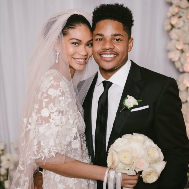 Chanel Iman has married her fiancé Sterling Shepard