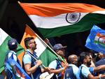 Indian fans at the Adelaide Oval on Thursday. Photo: PETER PARKS / AFP —
