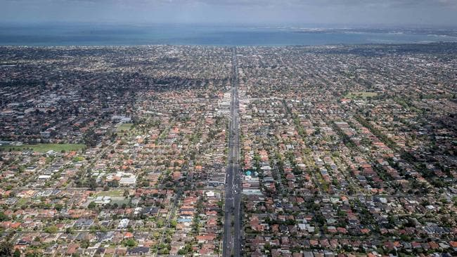 Non-city dwellers, like those in Melbourne's southeastern suburbs, miss out on jobs, transport and cultural services. Picture: Jake Nowakowski