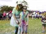 The 5km Colour Frenzy at Hobart's Domain drew a crowd of thousands to raise money for charities. Picture: MATT THOMPSON