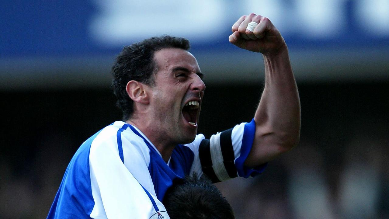 Kevin Muscat celebrates a Millwall goal