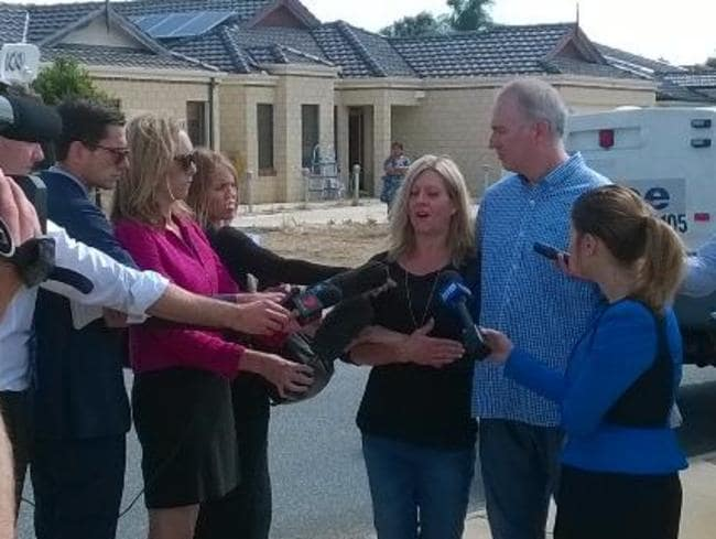 The parents of missing toddler Sam speak with media in Landsdale. Picture: Twitter/WA Police