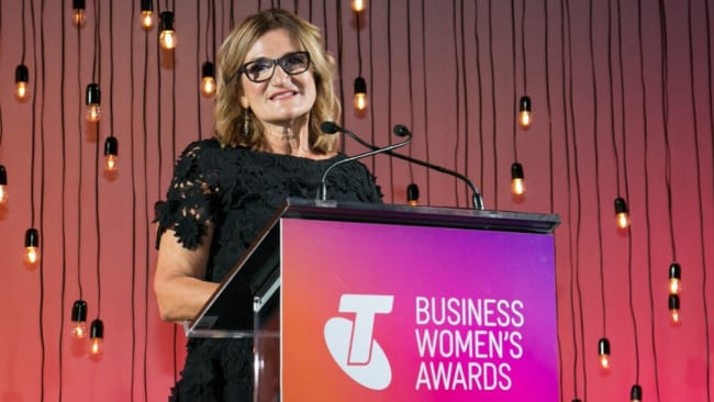Violet speaking at the 2017 Telstra Business Women's Awards. Photo: Telstra